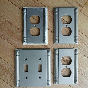 Designer Metal Switch plate set